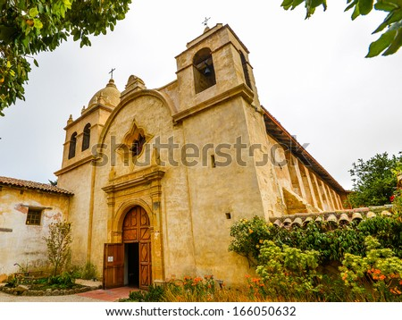 Church, Mission Carmel - Carmel, California - stock photo