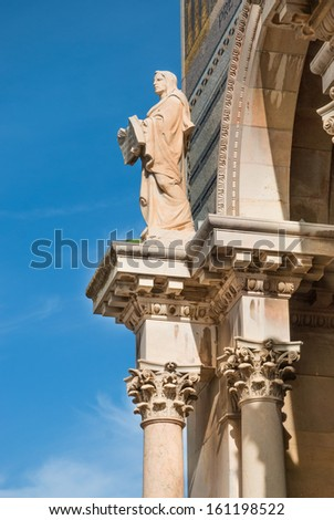 Church of All Nations also known as the Basilica of the Agony. It is a Roman catholic church located on the Mount of Olives in Jerusalem, Israel. - stock photo
