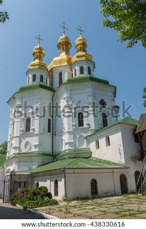 Church of all saints in Pechersk Lavra Kiev - stock photo