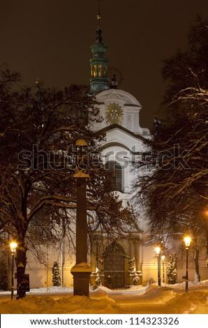 Church of Assumption, Prague, Czech Republic - stock photo
