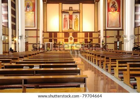 Church of Christ interior design - stock photo