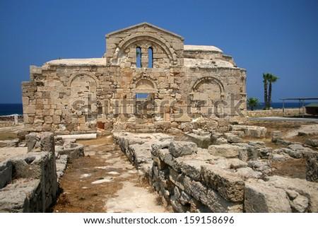 church of Kyrenia in north Cyprus - stock photo