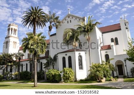 Church of Lady of Sorrows, Santa Barbara (California) - stock photo