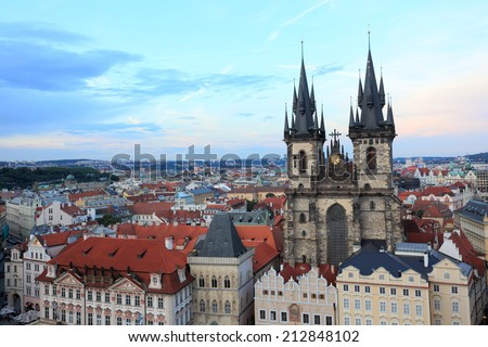 Church of our lady before tyn at Prague, Czech