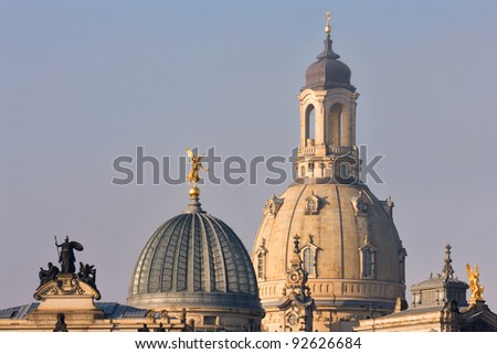 church of our lady dresden - stock photo