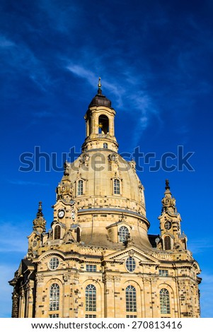 Church of Our Lady in Dresden, Germany - stock photo