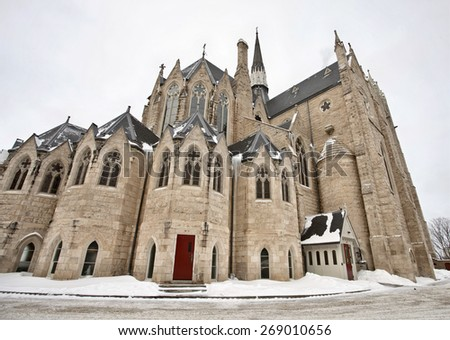 Church of our Lady in Guelph Ontario Canada - stock photo