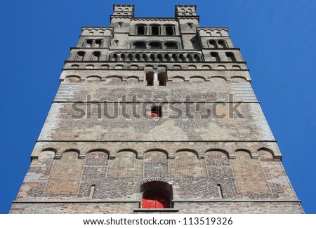 Church of Our Lady tower in Bruges, Belgium.