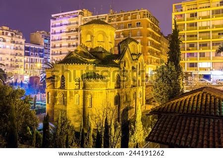 Church of Panagia Chalkeon in Thessaloniki - Greece - stock photo