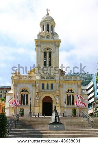Church of Saint Charles, Monaco - stock photo