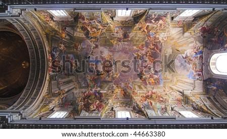 Church of Saint Ignatius of Loyola at Campus Martius  - Rome - stock photo
