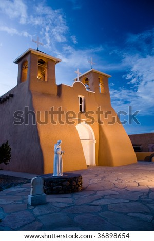 Church of San Francisco de Asis - stock photo