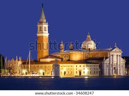 Church of San Giorgio Maggiore in Venice, Italy - stock photo