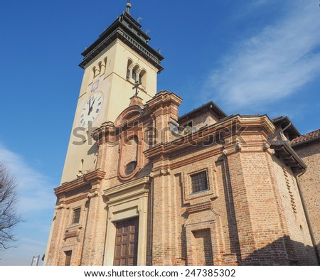 Church of San Giorgio Meaning St George in Chieri Italy