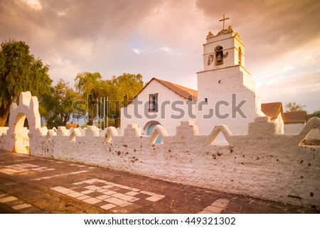 Church of San Pedro de Atacama, Atacama Desert, Chile, South America