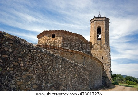 Church of Sant Genis in Monells,Catalonia,Spain