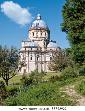 Church of Santa Maria della Consolazione at Todi, Italy - stock photo