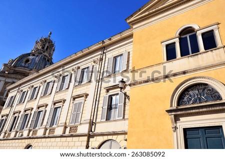 Church of Santa Maria di Loreto foro traiano, Rome, Italy - stock photo