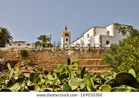 Church of Santa Maria in Betancuria, the most important historic building on Fuerteventura island - stock photo
