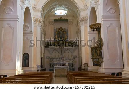 Church of SS. Rosario. Manduria. Puglia. Italy. - stock photo