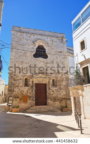 Church of St. Chiara. Turi. Puglia. Italy.