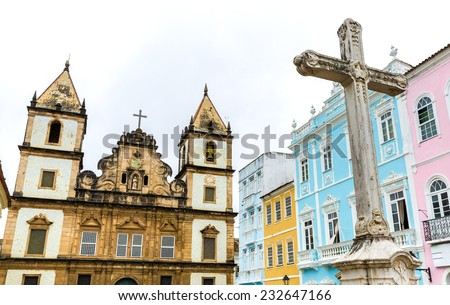 Church of St. Francis of Assis in Salvador, Bahia, Brazil - stock photo