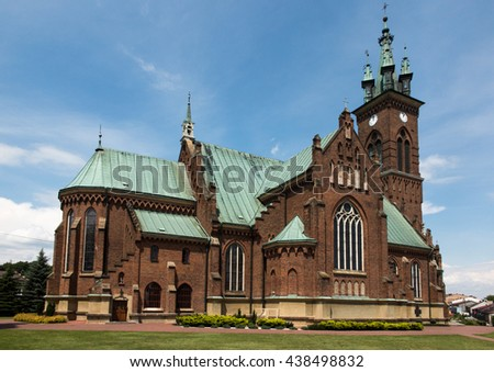 Church of St. John in Sokolow Malopolski, Poland - stock photo