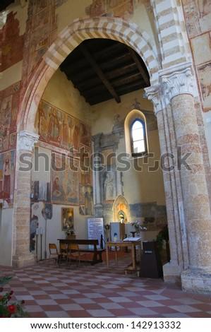 Church of St. Maria del Casale. Brindisi. Puglia. Italy. - stock photo