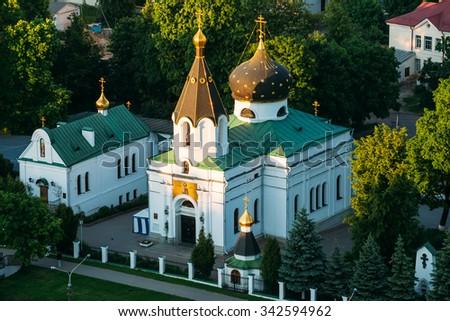 Church of St Mary Magdalene in Minsk, Belarus. Orthodox church - stock photo