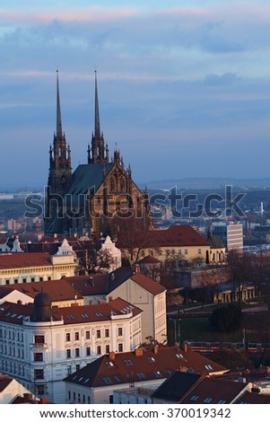 Church of St. Peter and Paul in Brno Czech Republic