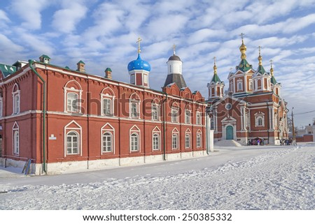 Church of the Assumption and Holy Cross Cathedral in Kolomna, Moscow region, Russia - stock photo