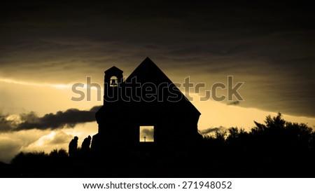 Church of the Good Shepherd, Newzealand. - stock photo