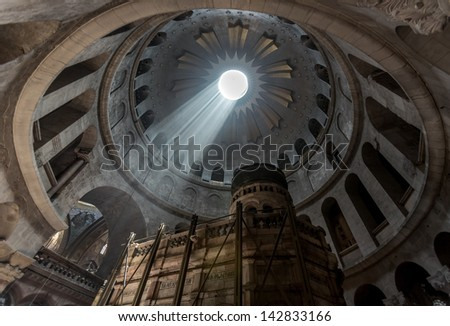 Church of the Holy Sepulchre in Jerusalem, Israel - stock photo