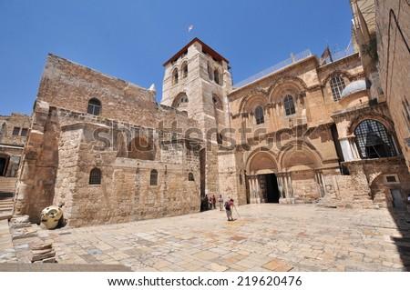 Church Of The Holy Sepulchre.Jerusalem .Israel  - stock photo