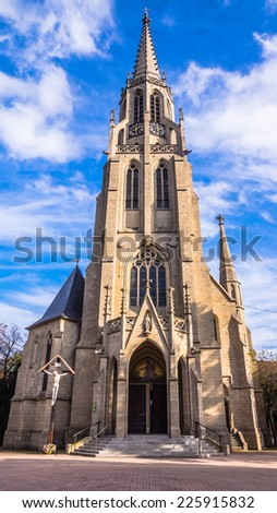 Church of the Immaculate Conception of the Blessed Virgin Mary in Katowice, Silesia region, Poland. - stock photo