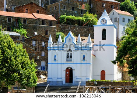 Church of the Portuguese mountain village of Piodao