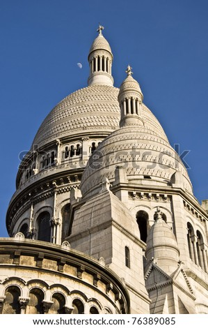 Church of the Sacre Coeur. A symbol of Paris. - stock photo