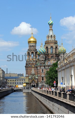 Church of the Savior on Blood in Saint Petersburg. Russia. - stock photo