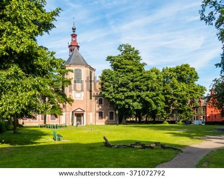 Church of the Sint-Elisabeth Begijnhof (Saint-Elisabeth Beguinage), Ghent, Belgium - stock photo