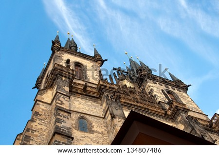 Church of the Virgin Mary - the main church of old town of Prague Czech Republic
