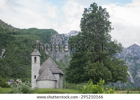 church of Theth, Prokletije Mountains, Albania