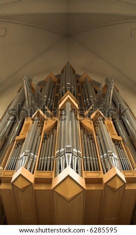 Church organ - stock photo