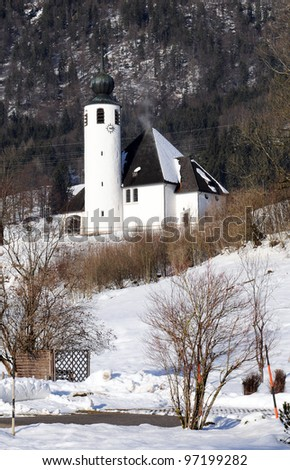 Church St. Vincence of Weissbach at the Bavarian Alpenstrasse near Bad Reichenhall