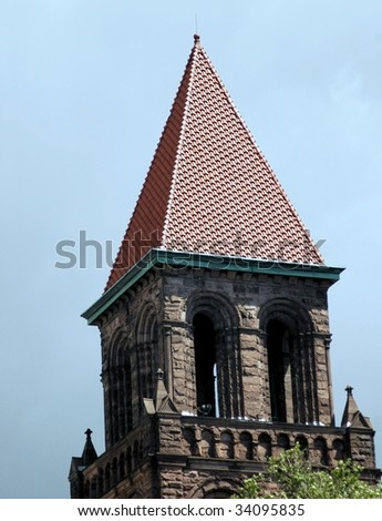 Church Steeple-World wide photo walk July 09-Buffalo,New York - stock photo