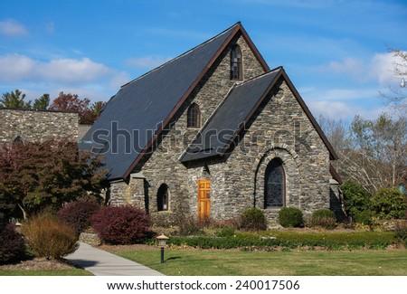 Church, west part of North Carolina - stock photo