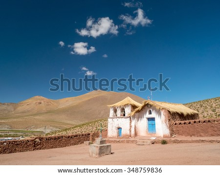 Church with a straw roof