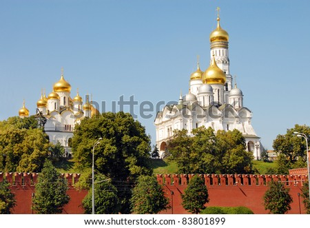 Churches of the Moscow Kremlin - stock photo