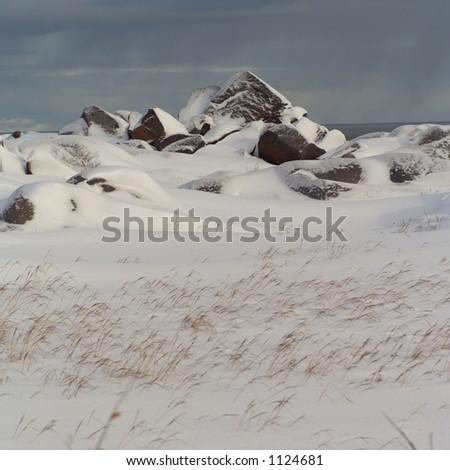 Churchill Northern Manitoba Canada Tundra Landscape - stock photo