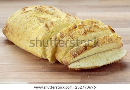Ciabatta corn bread - stock photo