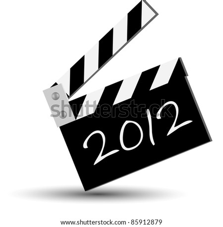 ciak for new 2012 year - stock photo